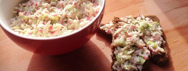 Surimi salade met miso mayonaise